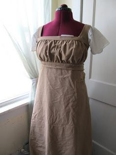 An everyday dress Lydia could have worn around her house with Mr. Wickham