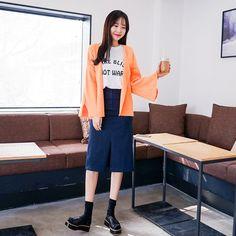 #envylook Slit Front Slim Midi Skirt #koreanfashion #koreanstyle #kfashion #kstyle #stylish #fashionista #fashioninspo #fashioninspiration #inspirations #ootd #streetfashion #streetstyle #fashion #trend #style