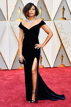 Taraji P. Henson In Alberta Ferretti at the Oscars 2017.