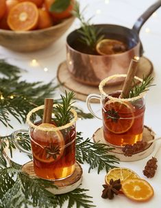 Citrus and spice hot cider recipe - Trend Cocktail Food Ideas 2019 Xmas Food, Christmas Drinks, Fun Drinks, Yummy Drinks, Healthy Eating Tips, Healthy Recipes, Dinner Is Coming, Brunch, Turkish Tea