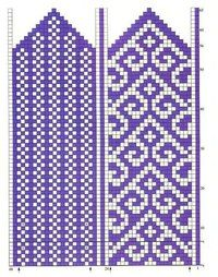 Made mittens from Telemark yarn, now discontinued. Love the density for mittens. Mittens Pattern, Knit Mittens, Knitted Gloves, Knitting Charts, Knitting Stitches, Knitting Patterns, Loom Patterns, Beading Patterns, Cross Stitch Patterns