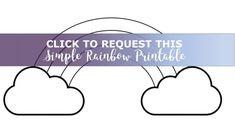 Need a simple rainbow outline for coloring or crafts? Here is a cute rainbow with clouds - it's extra large, filling almost an entire piece of paper! Arts And Crafts For Adults, Crafts For Kids, Montessori Activities, Activities For Kids, Princess Coloring Sheets, Rainbow Writing, Disney Princess Colors, Love Rainbow, Dr Suess