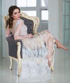 Jemné celokrajkové svatební šaty jednoduché svatební šaty v bohémském stylu  hluboký V výstřih na zádech a 5b8d88b2f4