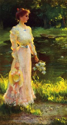 The Athenaeum - By the Lily Pond (Charles Courtney Curran - 1908)