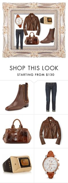 """""""Untitled #99"""" by mura82 on Polyvore featuring Christian Louboutin, rag & bone, Prada, FOSSIL and Marni"""