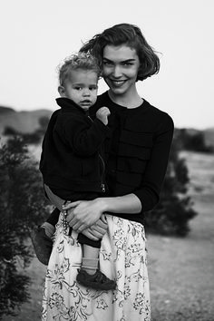 Arizona Muse and Nikko photographed by Peter Lindbergh, Vogue, February 2011.