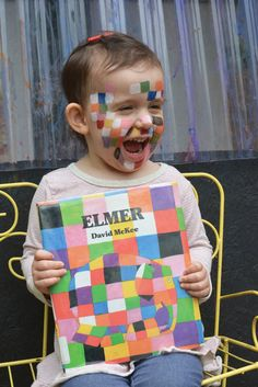 Elmer the Patchwork Elephant face painting party! Preschool Colors, Preschool Art, Elmer The Elephants, Craft Activities, Educational Activities, Children's Literature, Paint Party, Book Crafts, Early Childhood