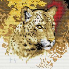 Набор для творчества Алмазная мозаика. Портрет леопарда, 30 см х 30 см