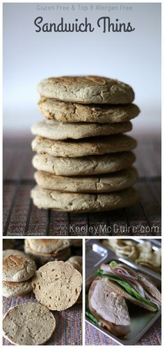 Gluten Free & Allergy Friendly: Sandwich Thins Recipe {Gluten & Top 8 Allergen Free}