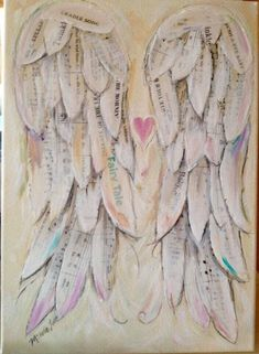 Baby Gift infant loss awareness miscarriage awareness nursery Print Angel Wings Art Print. 11 x 14 inch (28x36 cm) print of my original art work. This print would be perfect for new moms, a babys nursery, or someone who has lost a child. This print is not customized See other listing