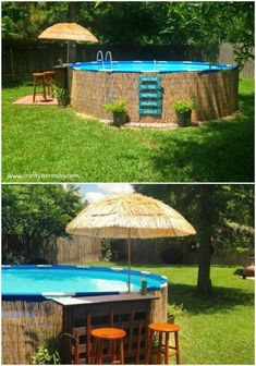 Building A Deck 378443174938164931 - 38 Genius Pool Hacks to Transform Your Backyard Into Your Own Private Paradise – DIY & Crafts Source by alexiafbrs Piscina Pallet, Piscina Diy, Ideas De Piscina, Piscina Intex, Above Ground Pool Landscaping, Above Ground Pool Decks, Backyard Pool Landscaping, In Ground Pools, Diy Pool