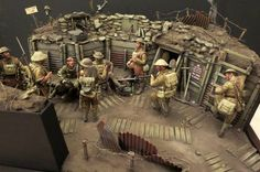 World War I British Trench 120mm Scratch Built Diorama by an unknown modeler..