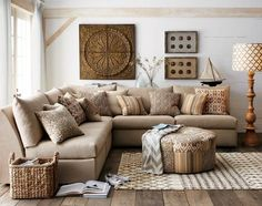 Home Office, Metallic Decor White Style Color Wall Picture Frame On The Wall Brown L Shaped Sofa Lamp On The Flooring Round Shaped Table Some Cushions White Style Curtain ~ Cool Ideas Of Accessory Flooring With Take The Beautiful Example Of Mission Style Rugs There Based On Your Choice