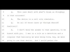 FLORIDA COP ADMITS ILLEGAL USE OF CELL PHONE STINGRAY USE AND HOW THEY HIDE THE DOCUMENTS - YouTube