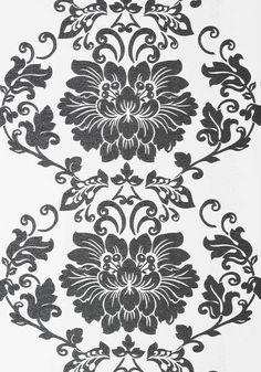 St. Germain #wallpaper in #black on #white from the Anna French Lyric…
