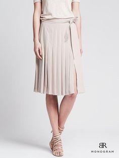 BR Monogram Tie-Front Midi Skirt Product Image