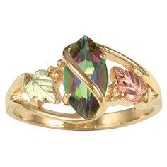 Mystic Fire Topaz Black Hills Gold Ring I— LEFT RING FINGER 7.5