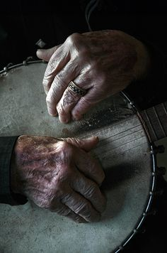sarahccook:  Ralph Stanley's fingers rest on his banjo, which has traveled everywhere from coal mining camps to gin joints to Carnegie Hall....