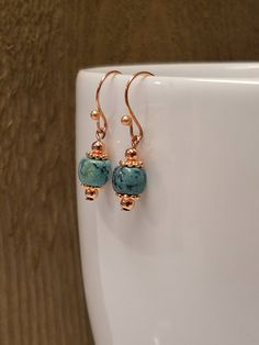 Excited to share the latest addition to my #etsy shop: Genuine African Turquoise Earrings/Bright Copper/December Birthstone Jewelry/Gift for Her/Gift under 15/Turquoise Earrings #turquoise http://etsy.me/2Cw1cCA
