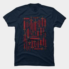 Seems like it'd be cool to have a swords shirt.  Bunch Of Blades T Shirt By Againstbound Design By Humans