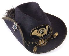 Union Officer Slouch Hat of the 28th Pennsylvania Infantry. Badge of 3rd Division, 12th Corps, adopted by the 20th Corps.