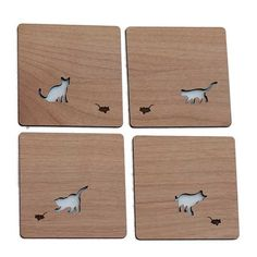 Cat & Mouse Coasters Set    These whimsical coasters are just plain fun and adds a cool accessory to any tables and make your glassware feel more