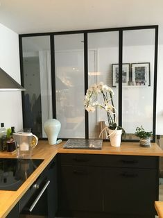Faite en bois et non en acier Canopy Kitchen: Unser Baldachin! Open Plan Kitchen Living Room, Kitchen Nook, New Kitchen, Kitchen Decor, Kitchen Collection, Küchen Design, Interior Design Living Room, Home Kitchens, Sweet Home
