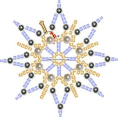 Beautiful beaded star or snowflake ~ easy tutorial.