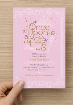 Set Of 10 Princess Birthday Invitation Once Upon A Time First Blush