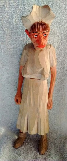 Andy Anderson Carved Wooden Very Old Nurse in Art, Folk Art & Indigenous Art | eBay