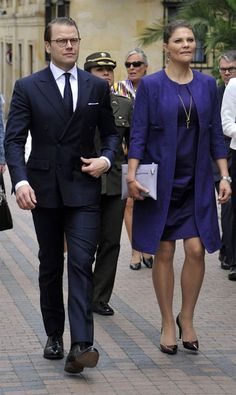 Crown Princess Victoria and Prince Daniel visited Colombia 2nd Day 22/10/2015