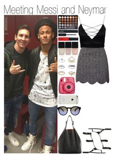 """""""Meeting Messi and Neymar"""" by linusya-badoeva ❤ liked on Polyvore featuring art"""