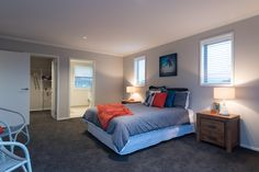 This master bedroom was designed to be very spacious.