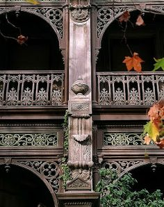Iron Lace is the beautiful iron work decorating the houses of Australia Home Office Makeover Reveal {Home Office} Necklace Annie Sloan Paint Colors, Annie Sloan Paints, Small Apartment Design, Small Apartments, Amazing Architecture, Architecture Details, Iron Work, Australian Homes, Door Handles