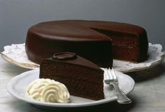 Original Vienna Sacher Torte - recipe & history ... also known as 'the panic cake' :) lol