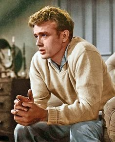 I don't care about the sweater . . . I was madly in love with James Dean when I was in high school!  Everybody needs a little eye candy, right?