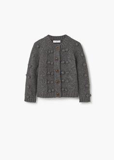 Cárdigan lana botones -  Niños | MANGO Kids México - $469.00 MXN