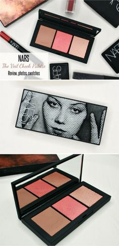 Review, photos, swatches of Nars x Man Ray The Veil Cheek Palette for holiday 2017: bronzer, blush and highlighter trio in an artsy compact.