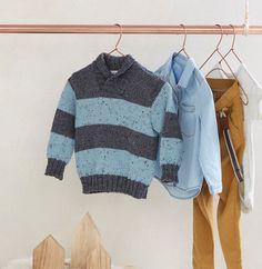Incontournable dans le vestiaire du petit garçon, le pull rayé plaira aux…
