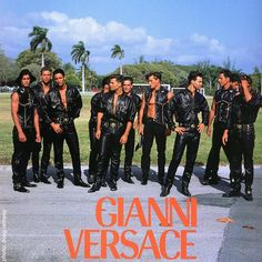 Versace leather boys hitting Miami Beach #gianniversace #versace #dougordway #southbeach #miamibeach #irenemarie #richardpullman