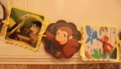 CURIOUS GEORGE Monkey Birthday Party Banner