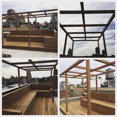 Custom Pergola, bench seating and deck