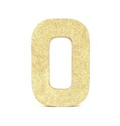 Gold Glittered Stand Alone Letter 8 Inch by janetwhatmandesigns, $8.00