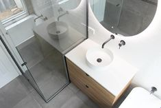 On the Ball Bathrooms are specialist in providing bathroom renovations to Perth. Perth Bathrooms renovations for over 20 years and are the waterproofing experts Gray Bathroom Walls, Bathroom Tapware, Grey Bathrooms, Bathroom Renovations Perth, White Subway Tiles, Black Shower, Shower Screen, Led Mirror, Bathroom Trends