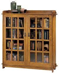 Wesley Cherry Bookcase With Glass Doors By Samuel Lawrence - Glass door bookshelves
