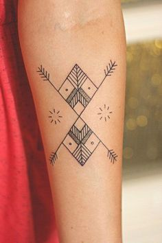 Anatomical Black Line Heart Tattoo