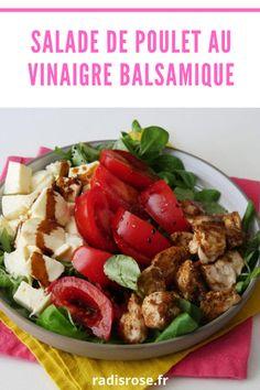 Salade de poulet au vinaigre balsamique - blog recettes faciles et rapides Kung Pao Chicken, Healthy Recipes, Ethnic Recipes, Food, Food Recipes, Healthy Cooking Recipes, Health Recipes, Meal, Healthy Food Recipes