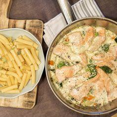 Ukemeny for uke 35 (Fru Timian) Seafood Dinner, Fish And Seafood, Cheeseburger Chowder, Apple Pie, Pasta Salad, Food Inspiration, Potato Salad, Macaroni And Cheese, Food And Drink