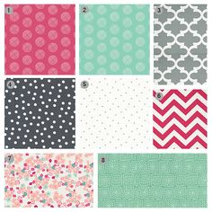 Custom Crib Bedding  Pink Mint and Grey Baby by GiggleSixBaby, $255.00