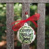 Found it at Wayfair - Happy Birthday Jesus Poinsettias Ornament